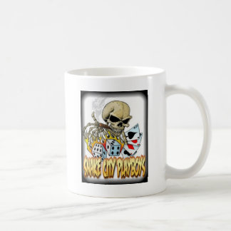 Snake City Playboys Skull Cards logo Coffee Mug