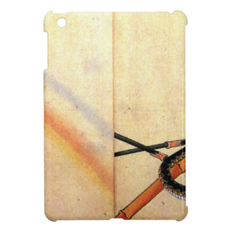 Snake curling around a bamboo stalk with a sparrow cover for the iPad mini