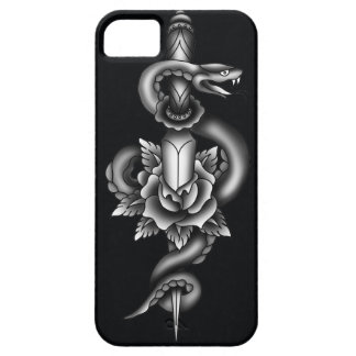 Snake, dagger and rose - black iPhone 5 covers