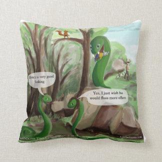 Snake Dental Hygiene Funny Throw Pillow