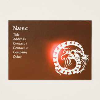SNAKE DRAGON AGATE orange yellow white red Business Card