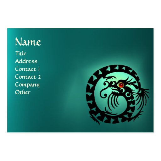 SNAKE DRAGON AQUAMARINE / Beauty,Salon,Day Spa Business Card Template