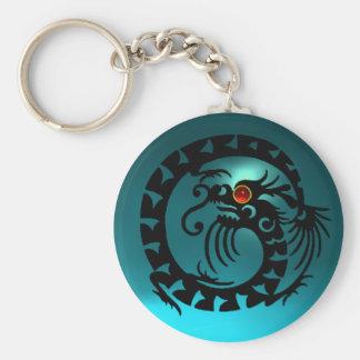 SNAKE DRAGON,black,red  ruby,blue aquamarine Basic Round Button Keychain