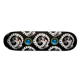 SNAKE  DRAGON, Black,White Red Ruby ,Blue Sapphire Skate Boards