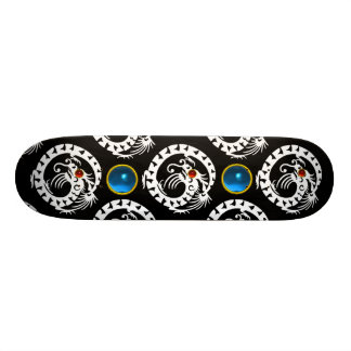 SNAKE  DRAGON, Black,White Red Ruby ,Blue Sapphire Skateboard