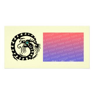 SNAKE DRAGON ,Blue Turquase Aquamarine Photo Card