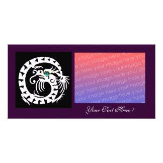 SNAKE DRAGON ,Blue Turquase Aquamarine purple Card