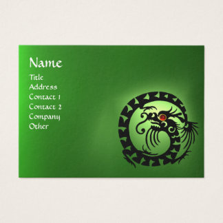 SNAKE DRAGON EMERALD green black red pink Business Card