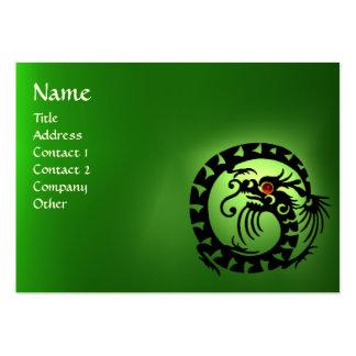 SNAKE DRAGON EMERALD green black red pink Large Business Card