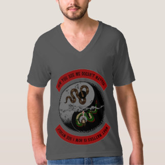 """Snake/Dragon """"How You See Me"""" Dark Graphic V-Neck T-Shirt"""