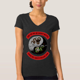 """Snake/Dragon """"How You See Me"""" Womens V-Neck Tee"""