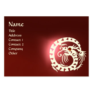SNAKE DRAGON  RUBY black and white red Large Business Card