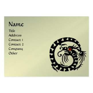 SNAKE DRAGON RUBY black silver,platinum metallic, Large Business Card