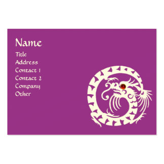 SNAKE DRAGON  RUBY violet white red purple Large Business Card