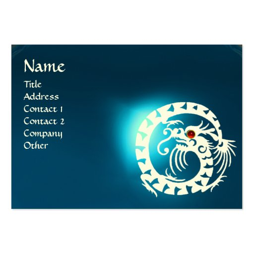 SNAKE DRAGON SAPPHIRE blue white red Business Card