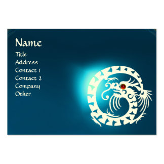 SNAKE DRAGON SAPPHIRE blue white red Large Business Card