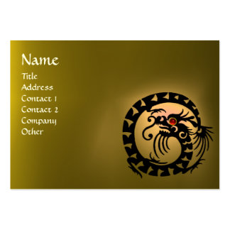 SNAKE DRAGON TOPAZ  purple white red yellow Large Business Card