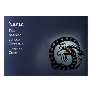 SNAKE DRAGON TOPAZ white red blue black Large Business Card