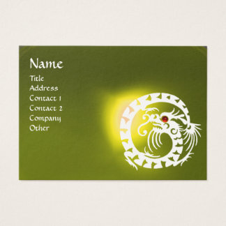 SNAKE DRAGON TOPAZ yellow white red Business Card