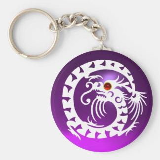 SNAKE DRAGON,white,red  ruby,purple amethyst Keychain