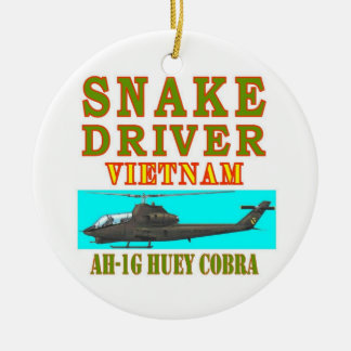 snAKE DRIVER VIETNAM Double-Sided Ceramic Round Christmas Ornament