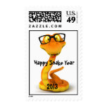 Snake Dude   Cute Chinese Zodiac Sign Postage