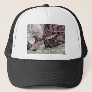 snake eating fish design trucker hat