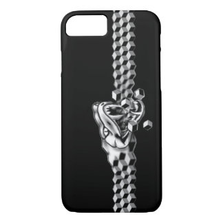 snake eating itself graphic art design phone cover