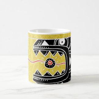 snake eats sun coffee mug