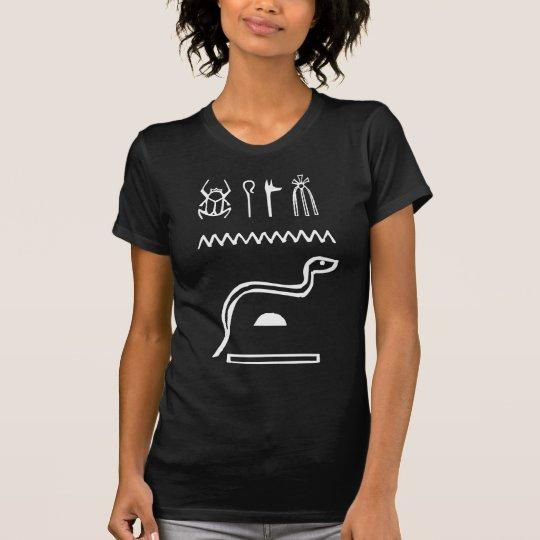 Snake, Egyptian hieroglyph T-Shirt