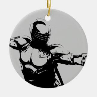 Snake Eyes 1 Double-Sided Ceramic Round Christmas Ornament