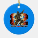 Snake  Eyes 82 Double-Sided Ceramic Round Christmas Ornament