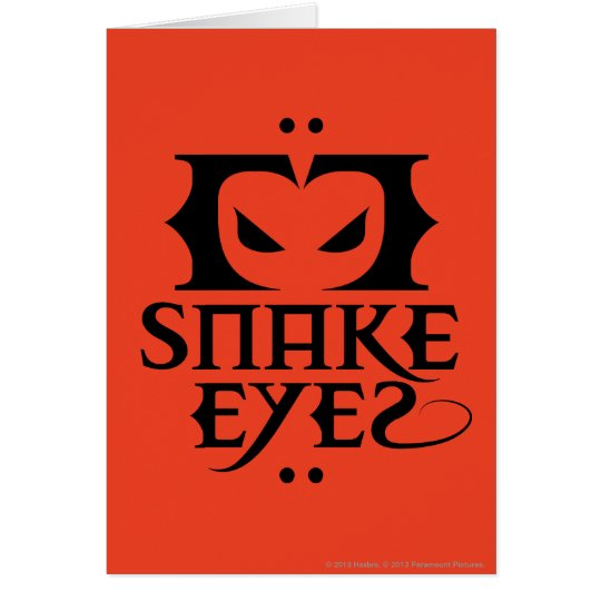 Snake Eyes Card