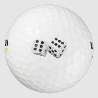Snake Eyes Dice Golf Ball