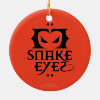 Snake Eyes Double-Sided Ceramic Round Christmas Ornament