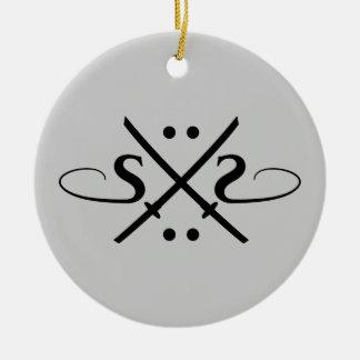 Snake Eyes Logo Double-Sided Ceramic Round Christmas Ornament