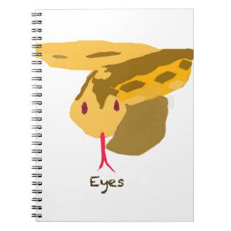 snake eyes. note book