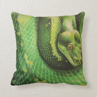 Snake Eyes painting Throw Pillow