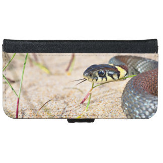 Snake Flicking Its Tongue Wallet Phone Case For iPhone 6/6s