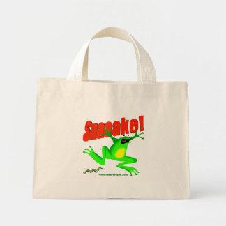 SNAKE! 'fraidy frog Mini Tote Bag