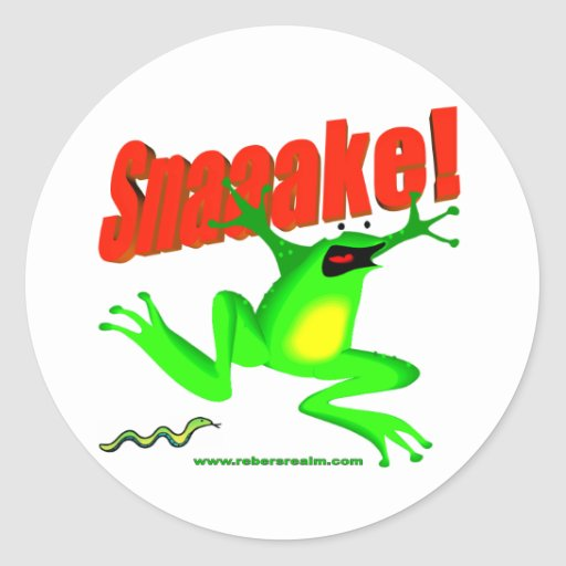 SNAKE! 'fraidy frog Stickers
