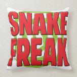 Snake Freak R Throw Pillow