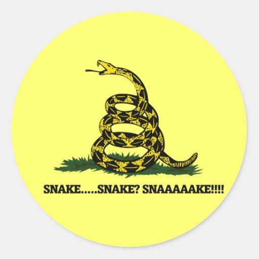 Snake? Funny gamer parody Round Stickers