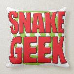 Snake Geek Throw Pillows