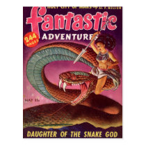 Snake Girl Postcard