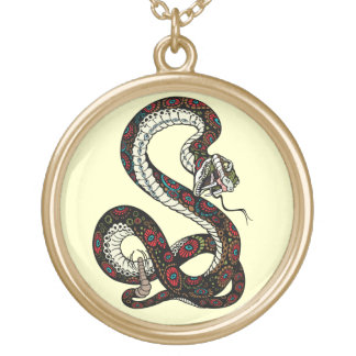 snake gold plated necklace