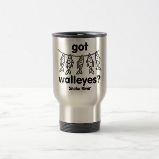 snake got walleye travel mug