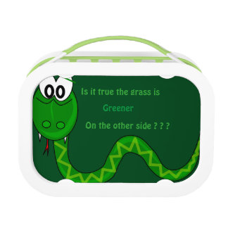 Snake grass is greener Lunchbox, Green Lunch Box