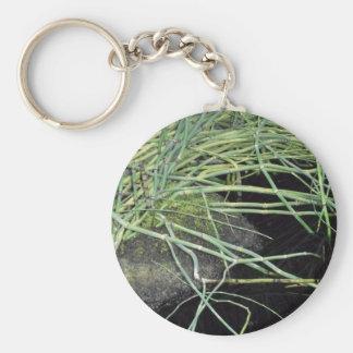 Snake Grass Print - Nature Series Basic Round Button Keychain
