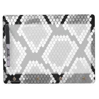 Snake Gray and Light Gray Print Dry Erase Board With Keychain Holder